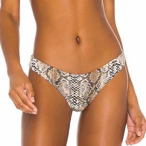 Superdown Revolve Cheeky Bikini Bottom Snakeprint